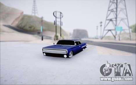 Voodoo Low Car v.1 for GTA San Andreas