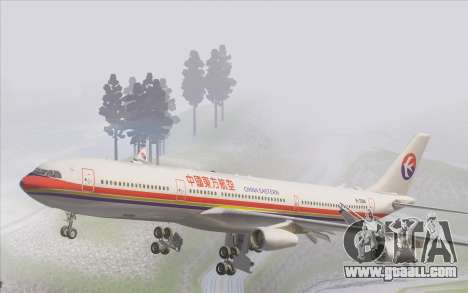 Airbus A340-300 China Eastern for GTA San Andreas interior