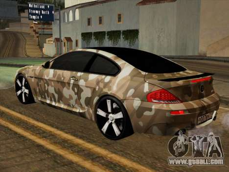 BMW M6 Hamann for GTA San Andreas upper view
