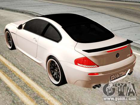 BMW M6 Hamann for GTA San Andreas back left view
