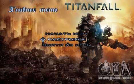 Boot screens and menus Titanfall for GTA San Andreas forth screenshot