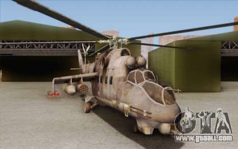 Mi-24D Hind from Modern Warfare 2 for GTA San Andreas left view