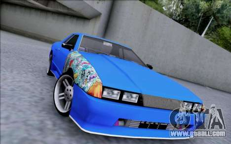 Elegy By Dr1ad for GTA San Andreas back left view