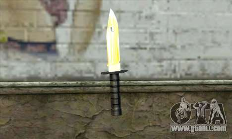 Golden Knife for GTA San Andreas