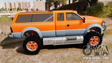 GTA V Vapid Sandking XL wheels v2 for GTA 4 left view