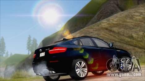 BMW X6M E71 2013 300M Wheels for GTA San Andreas back view