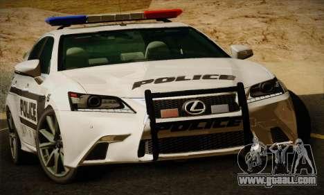 Lexus GS350 F Sport Series IV Police 2013 for GTA San Andreas