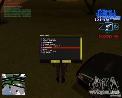 C-Hud Diamond RP for GTA San Andreas second screenshot