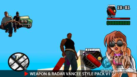 Weapon & Radar VanCee Style Pack v1 for GTA San Andreas tenth screenshot