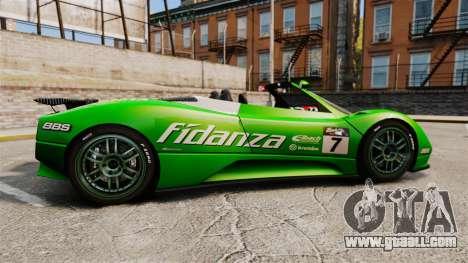 Pagani Zonda C12 S Roadster 2001 PJ6 for GTA 4 left view