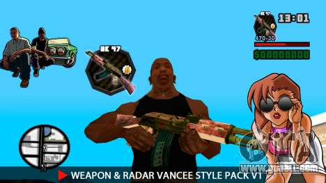 Weapon & Radar VanCee Style Pack v1 for GTA San Andreas seventh screenshot