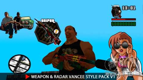 Weapon & Radar VanCee Style Pack v1 for GTA San Andreas eighth screenshot