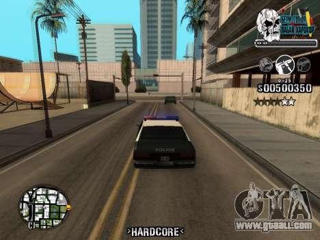 C-HUD Hardcore By KD for GTA San Andreas
