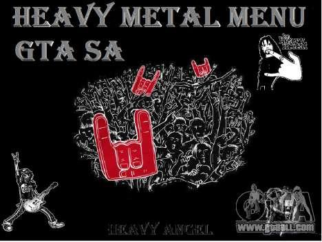 Heavy Metal Menu V.1 for GTA San Andreas