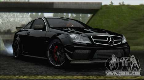Mercedes C63 AMG Black Series 2012 for GTA San Andreas back left view