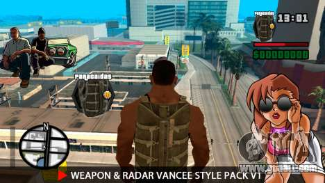 Weapon & Radar VanCee Style Pack v1 for GTA San Andreas