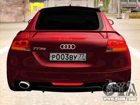 Audi TT RS 2010 for GTA San Andreas back left view