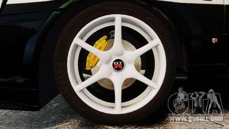 Nissan Skyline GT-R R34 Saitama Police for GTA 4 back view