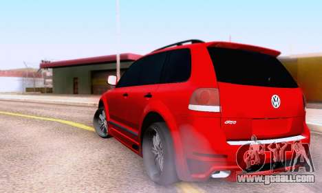 Volkswagen Touareg Mansory for GTA San Andreas back view