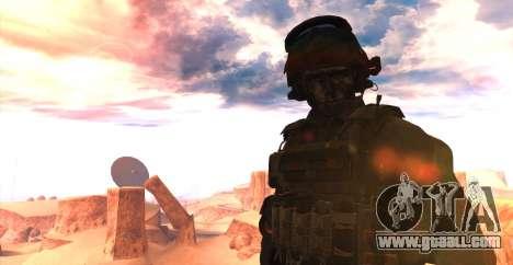 Lt. David Hesh Walker из Call Of Duty: Ghosts for GTA San Andreas second screenshot