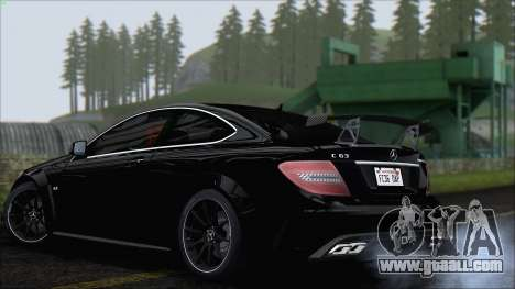 Mercedes C63 AMG Black Series 2012 for GTA San Andreas right view