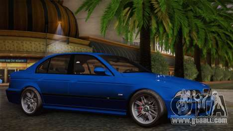 BMW E39 M5 2003 for GTA San Andreas back view