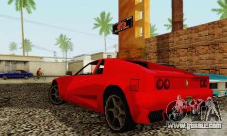 New Cheetah v1.0 for GTA San Andreas back view