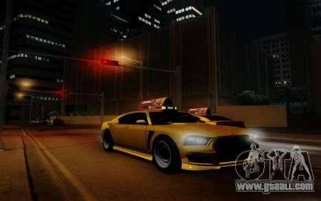 Buffalo Taxi for GTA San Andreas back view