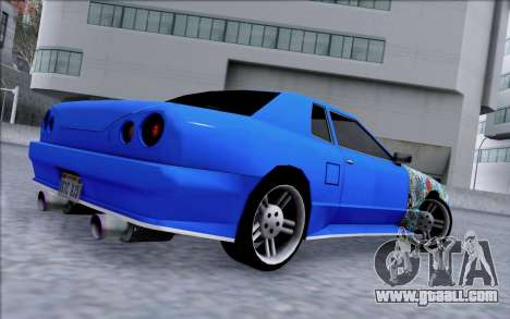 Elegy By Dr1ad for GTA San Andreas left view