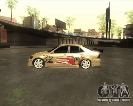 Lexus IS300 Tuneable for GTA San Andreas back left view