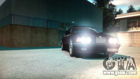 BMW 735iL E32 ver 2 for GTA 4 back view