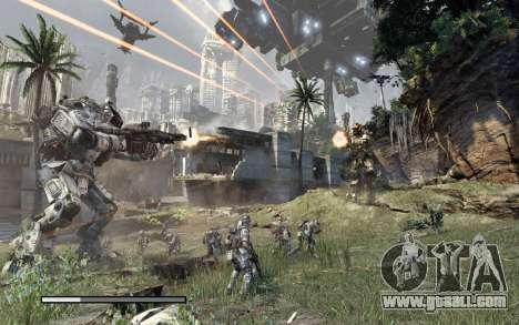 Boot screens and menus Titanfall for GTA San Andreas