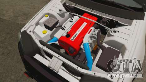 Nissan Skyline GT-R R34 Saitama Police for GTA 4 inner view