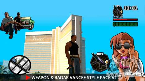 Weapon & Radar VanCee Style Pack v1 for GTA San Andreas sixth screenshot