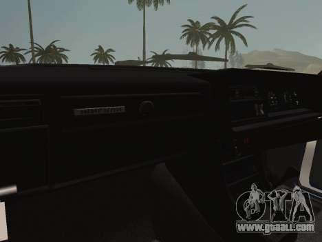 VAZ-2107 Riva for GTA San Andreas inner view