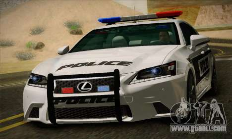 Lexus GS350 F Sport Series IV Police 2013 for GTA San Andreas left view