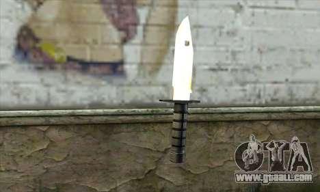 Golden Knife for GTA San Andreas second screenshot