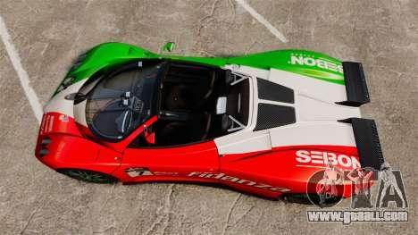 Pagani Zonda C12 S Roadster 2001 PJ6 for GTA 4 right view