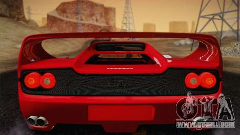 Ferrari F50 1995 for GTA San Andreas inner view
