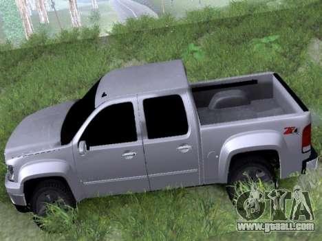 GMC Sierra SLT for GTA San Andreas back left view