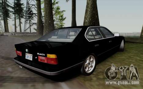 BMW 540i (E34) for GTA San Andreas back left view