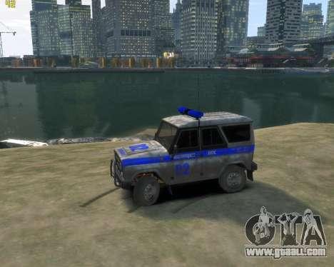 UAZ 315195 Hunter Police for GTA 4 left view