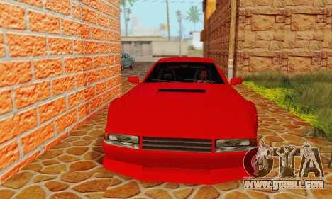 New Cheetah v1.0 for GTA San Andreas left view