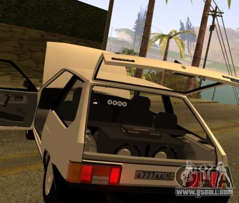 ВАЗ 2108 GVR Version 2.0 for GTA San Andreas back view