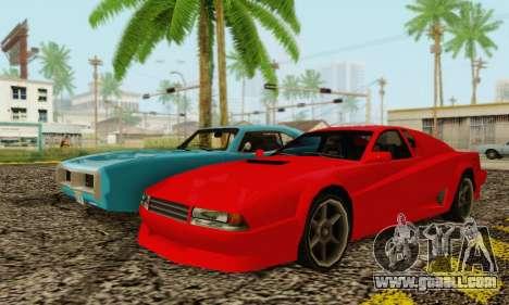 New Cheetah v1.0 for GTA San Andreas right view