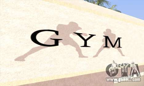 New gym for GTA San Andreas second screenshot