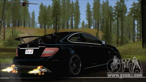 Mercedes C63 AMG Black Series 2012 for GTA San Andreas left view