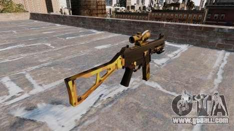 The submachine gun UMP45 Fall Camos for GTA 4 second screenshot