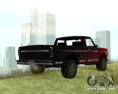 The New Jeep (Yosemite) for GTA San Andreas back left view