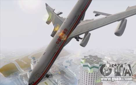 Airbus A340-300 China Eastern for GTA San Andreas left view